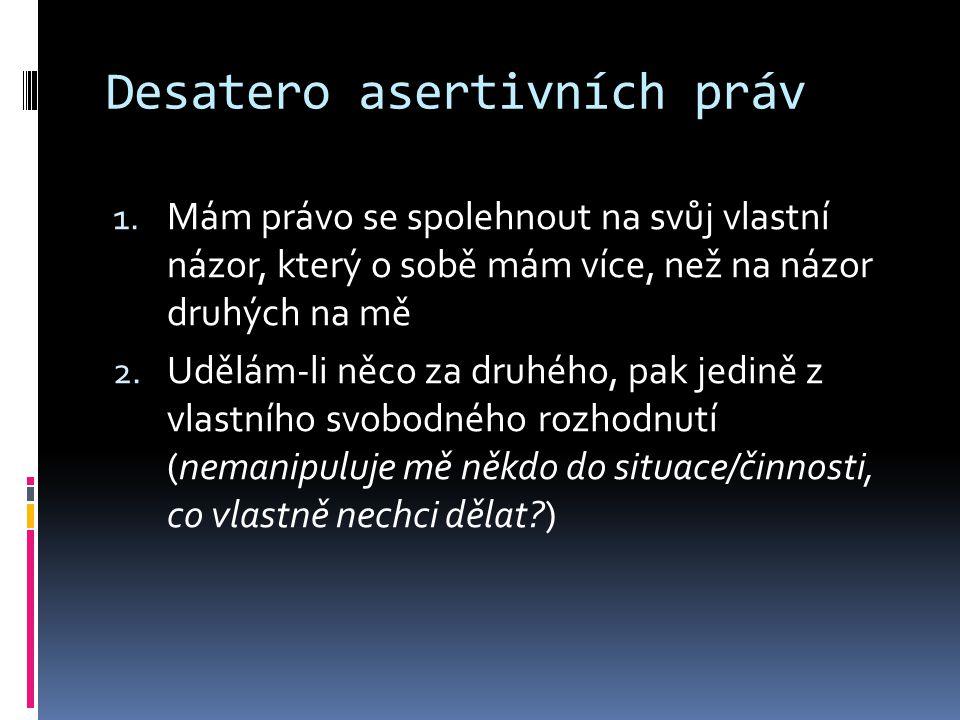 Desatero asertivních práv