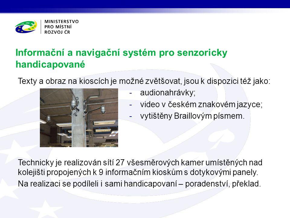 Informační a navigační systém pro senzoricky handicapované