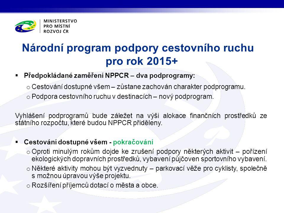 Národní program podpory cestovního ruchu pro rok 2015+