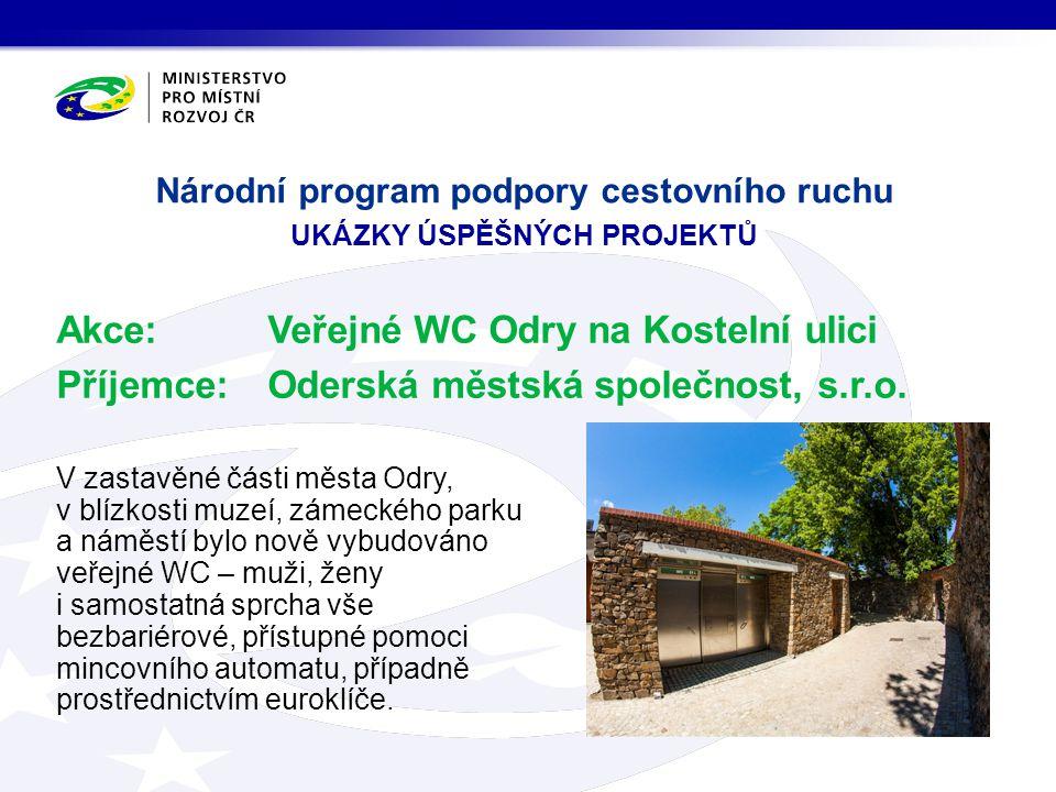 Národní program podpory cestovního ruchu ukázky úspěšných projektů