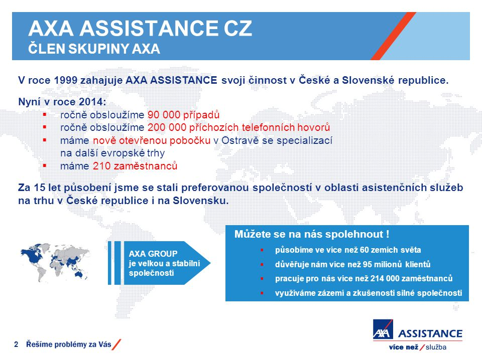 AXA ASSISTANCE CZ ČLEN SKUPINY AXA