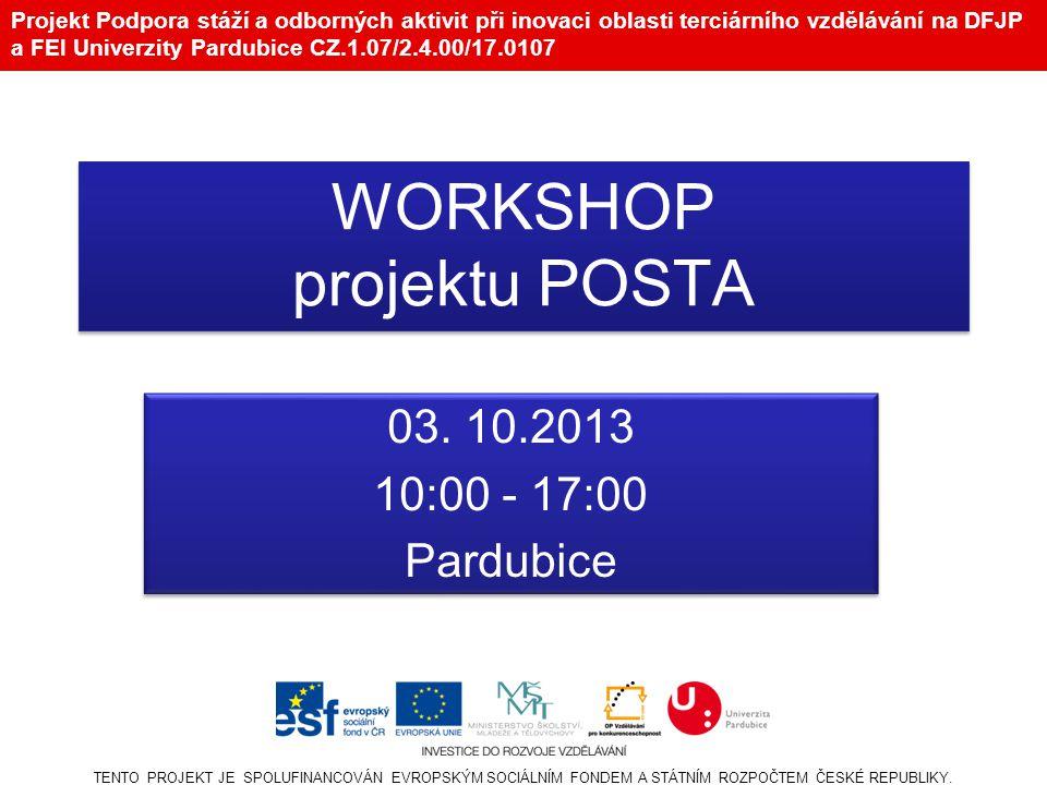 WORKSHOP projektu POSTA
