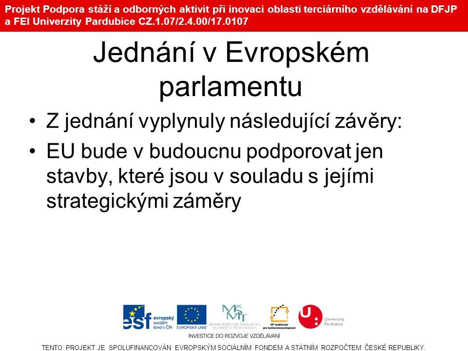 Jednání v Evropském parlamentu
