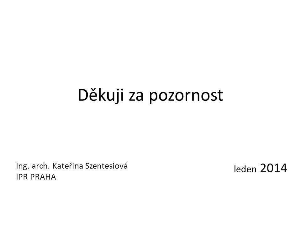 Ing. arch. Kateřina Szentesiová IPR PRAHA