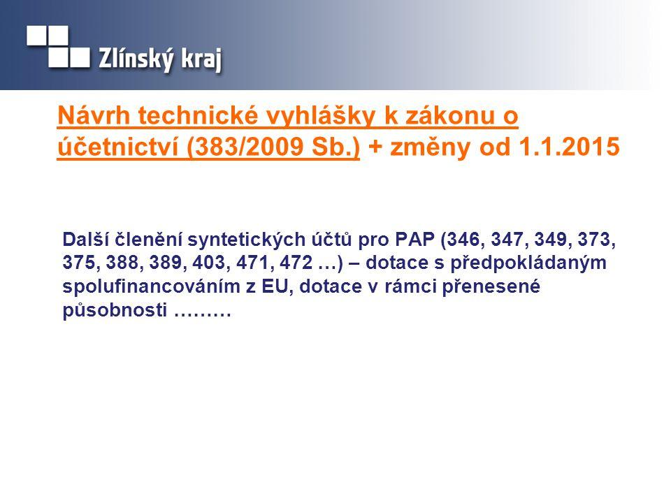 Návrh technické vyhlášky k zákonu o účetnictví (383/2009 Sb