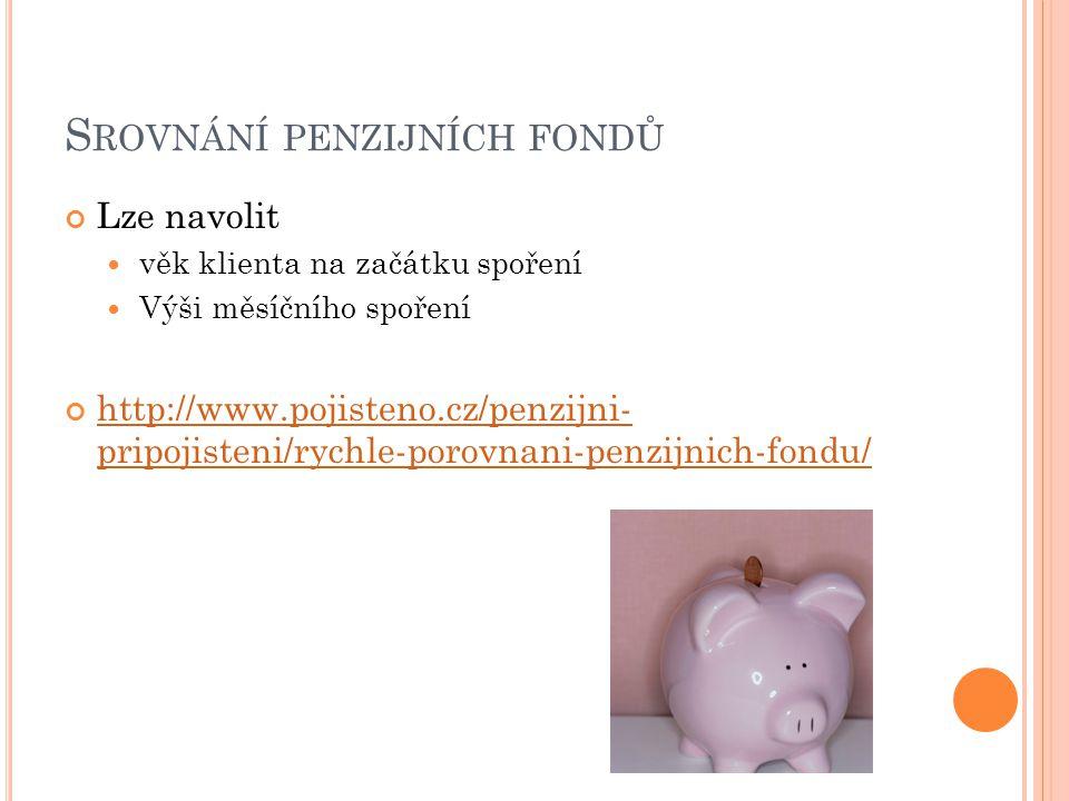 Srovnání penzijních fondů