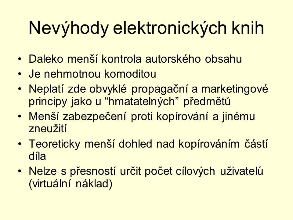 Nevýhody elektronických knih