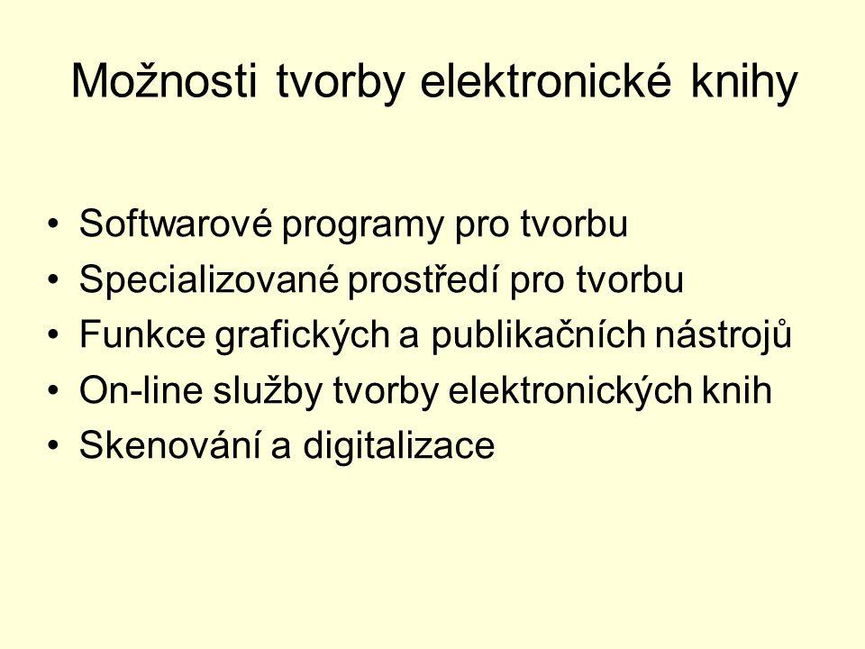 Možnosti tvorby elektronické knihy