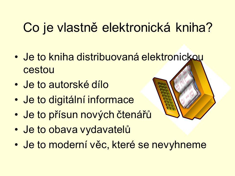 Co je vlastně elektronická kniha