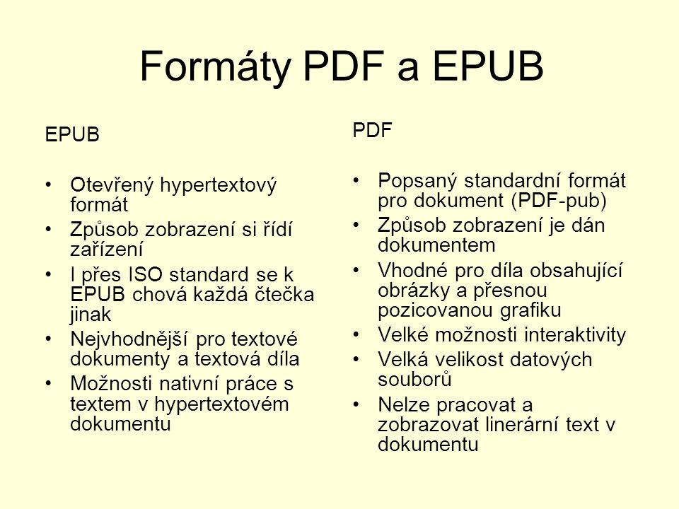 Formáty PDF a EPUB PDF EPUB