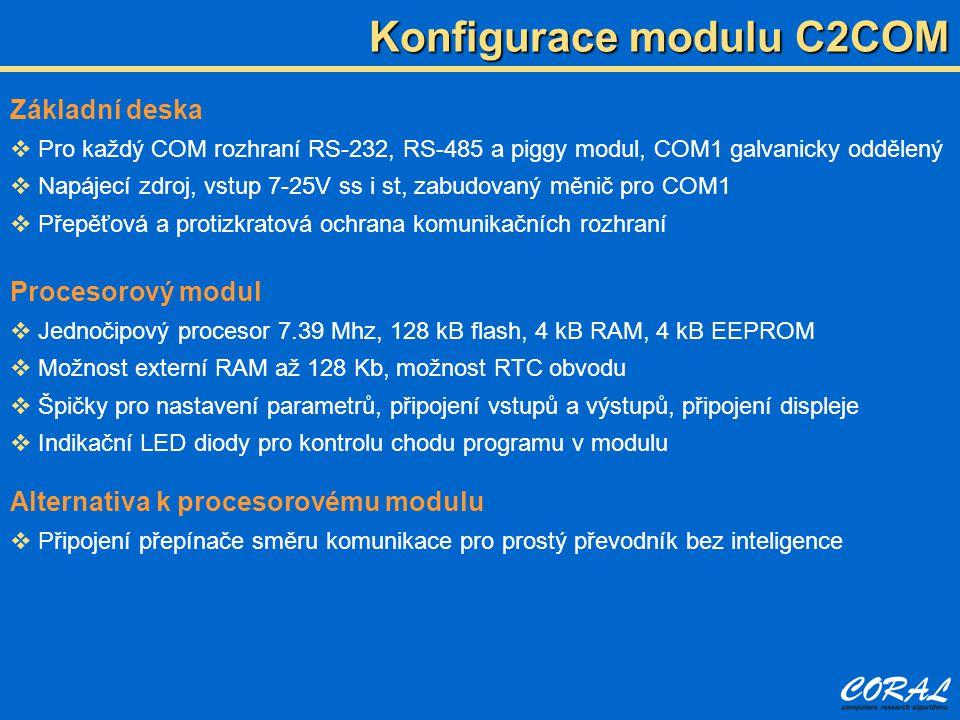 Konfigurace modulu C2COM