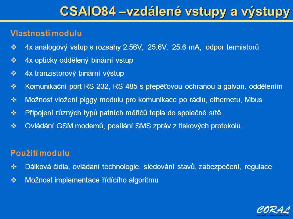 CSAIO84 –vzdálené vstupy a výstupy