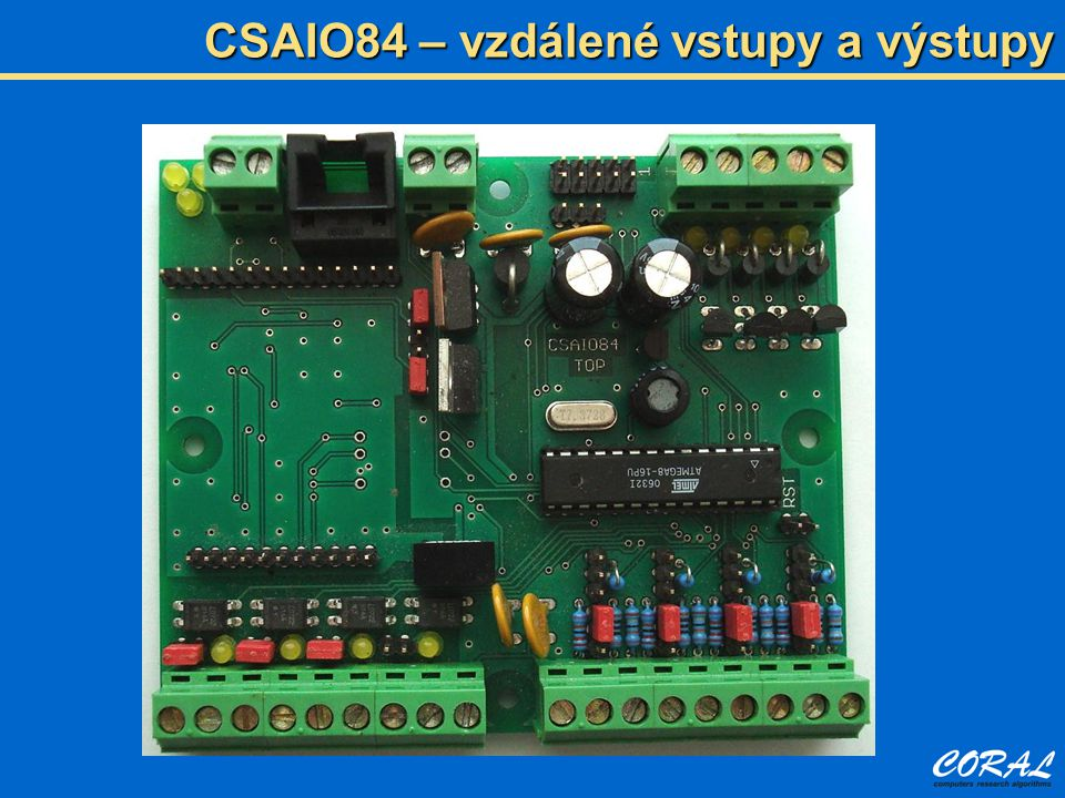 CSAIO84 – vzdálené vstupy a výstupy