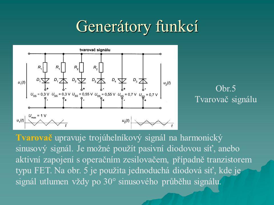 Generátory funkcí Obr.5 Tvarovač signálu