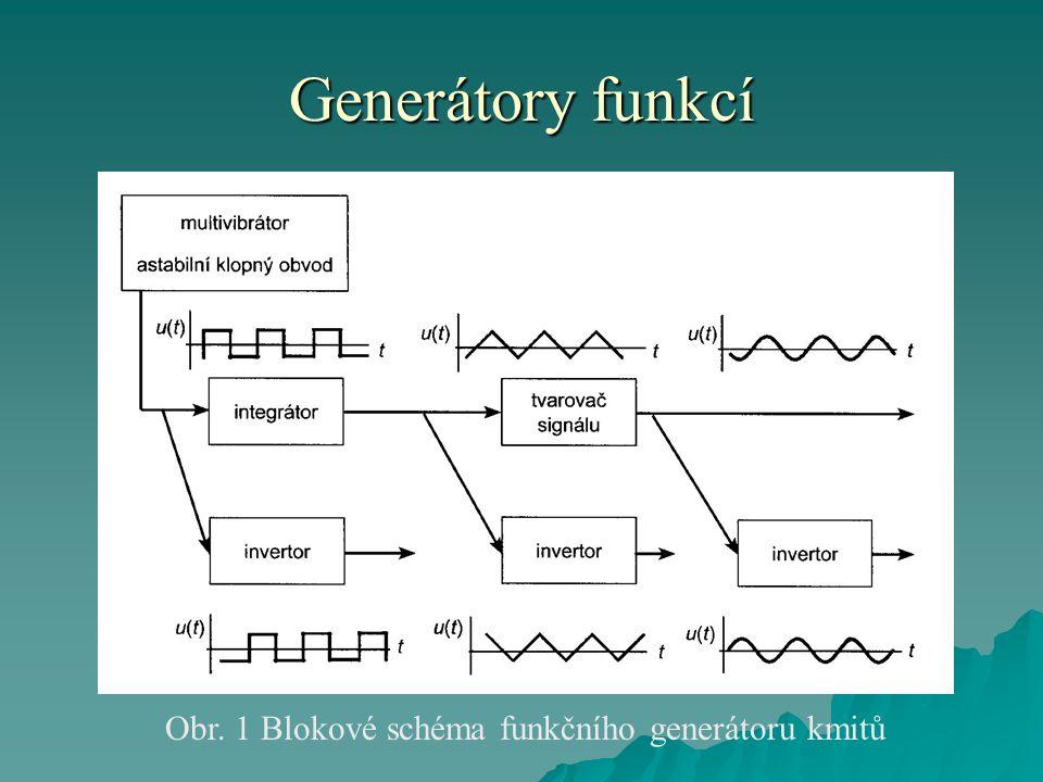 Obr. 1 Blokové schéma funkčního generátoru kmitů