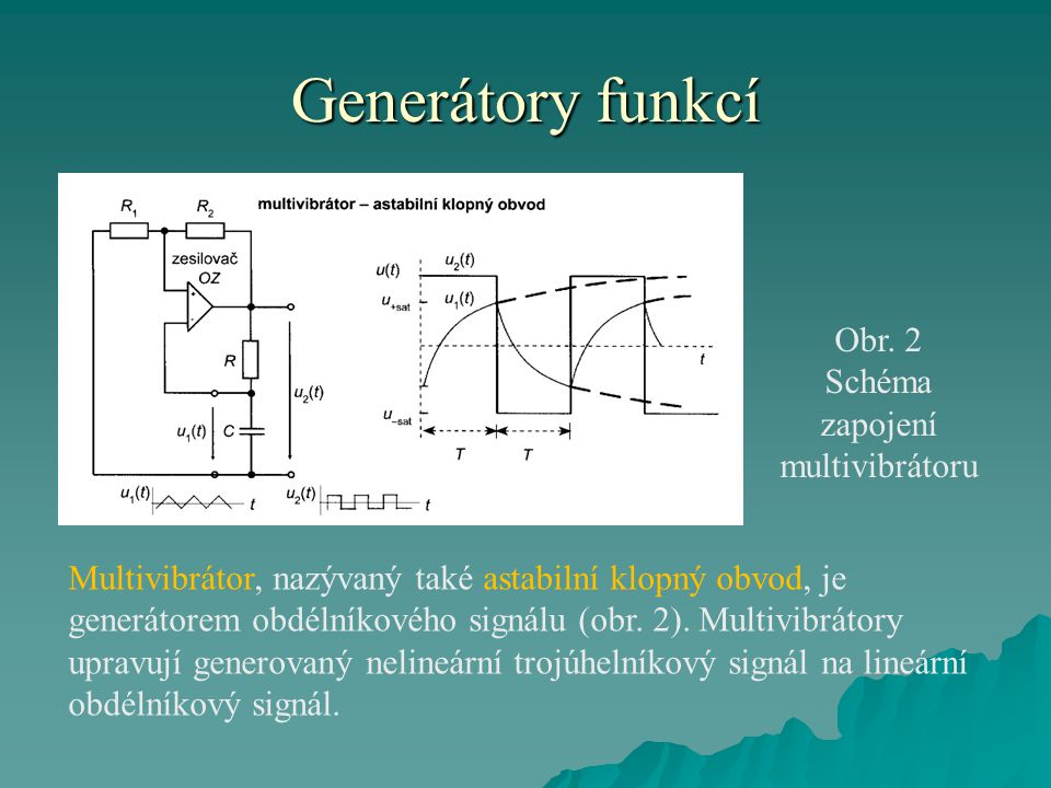 Schéma zapojení multivibrátoru