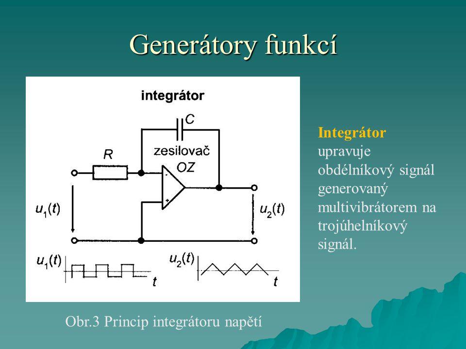 Obr.3 Princip integrátoru napětí