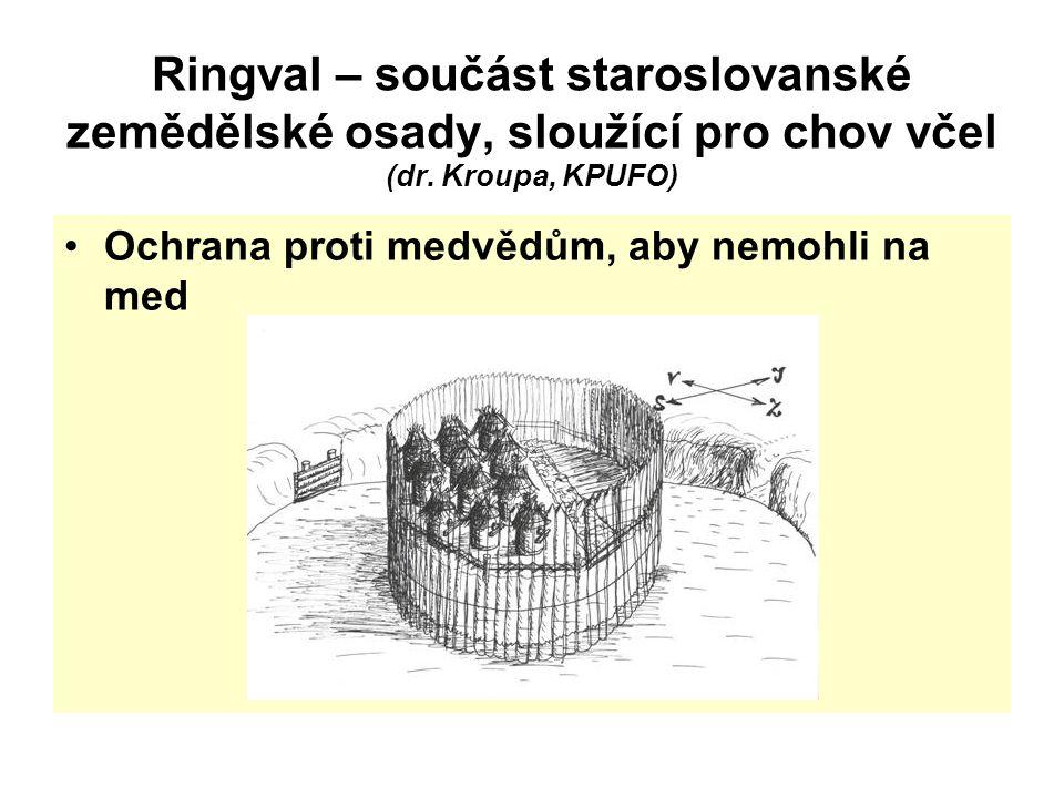 Ringval – součást staroslovanské zemědělské osady, sloužící pro chov včel (dr. Kroupa, KPUFO)