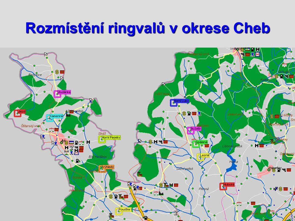 Rozmístění ringvalů v okrese Cheb
