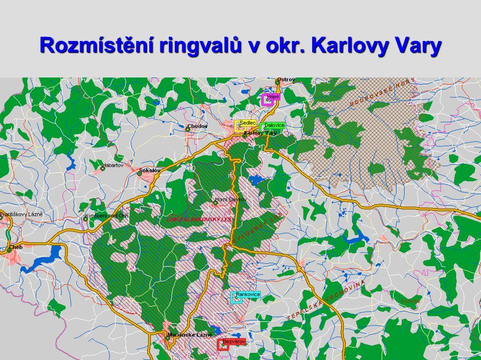 Rozmístění ringvalů v okr. Karlovy Vary
