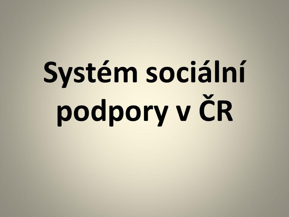 Systém sociální podpory v ČR