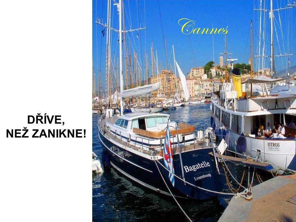 Cannes DŘÍVE, NEŽ ZANIKNE!