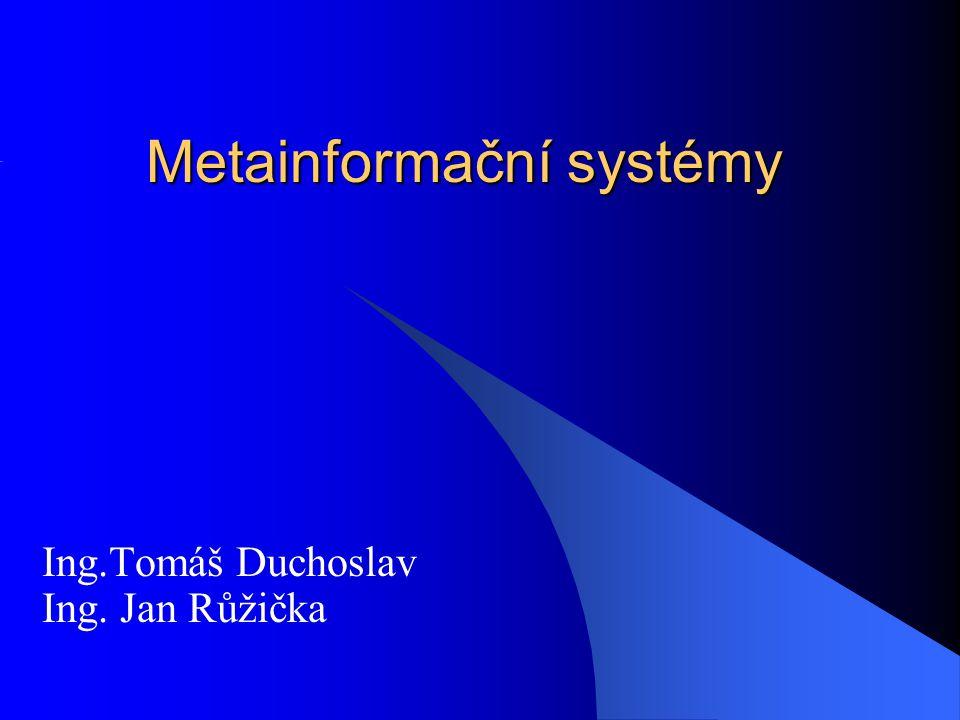 Metainformační systémy
