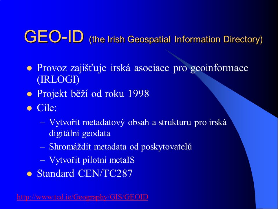 GEO-ID (the Irish Geospatial Information Directory)
