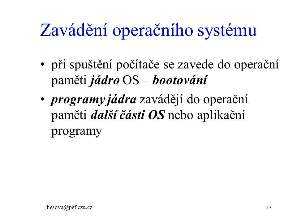 Zavádění operačního systému