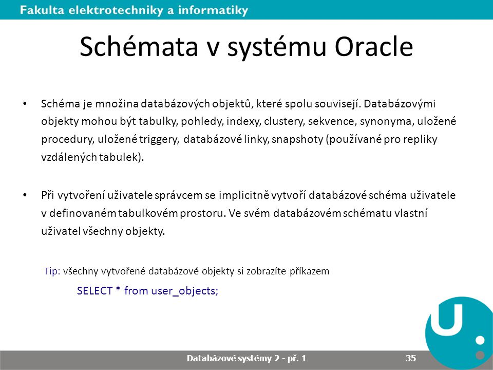 Schémata v systému Oracle