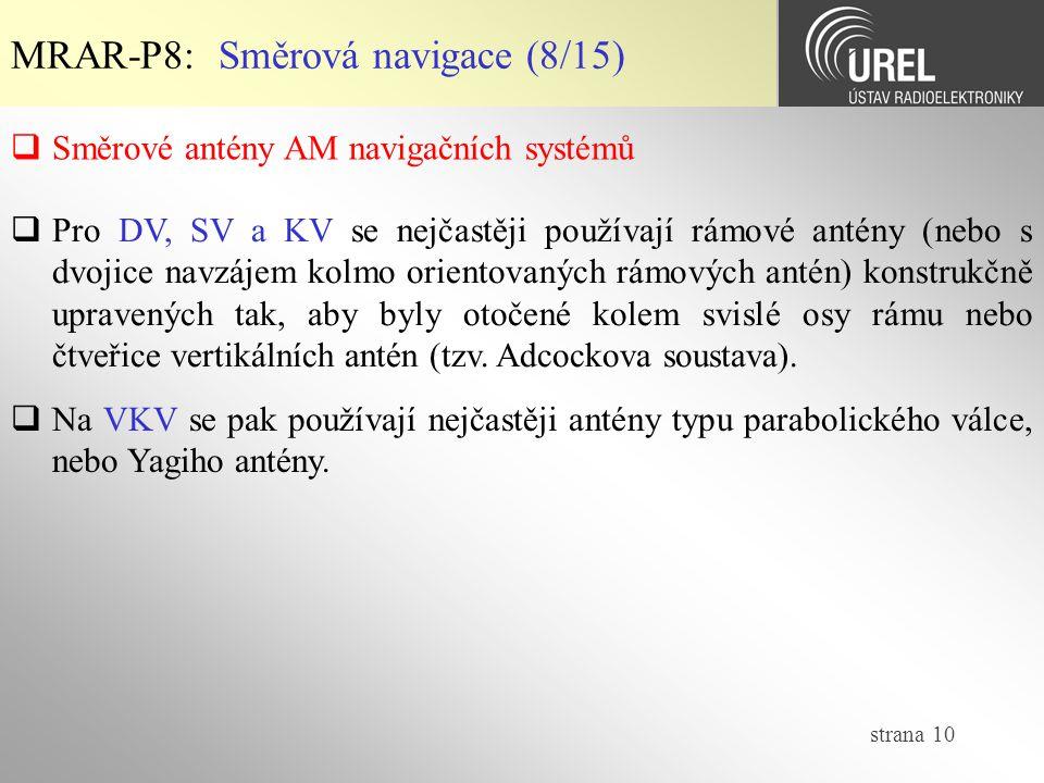 MRAR-P8: Směrová navigace (8/15)