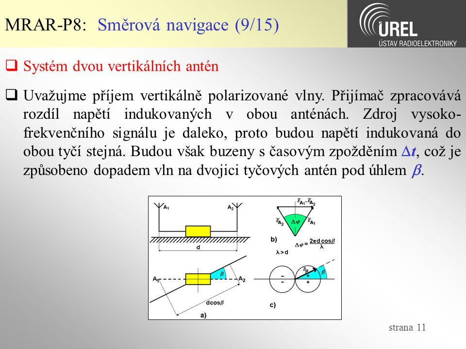 MRAR-P8: Směrová navigace (9/15)
