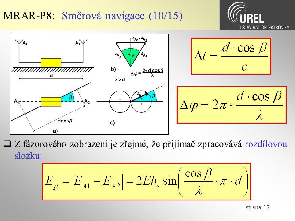 MRAR-P8: Směrová navigace (10/15)