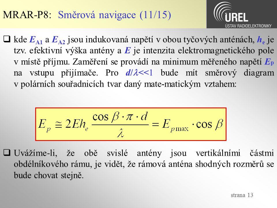MRAR-P8: Směrová navigace (11/15)