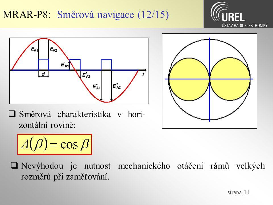 MRAR-P8: Směrová navigace (12/15)