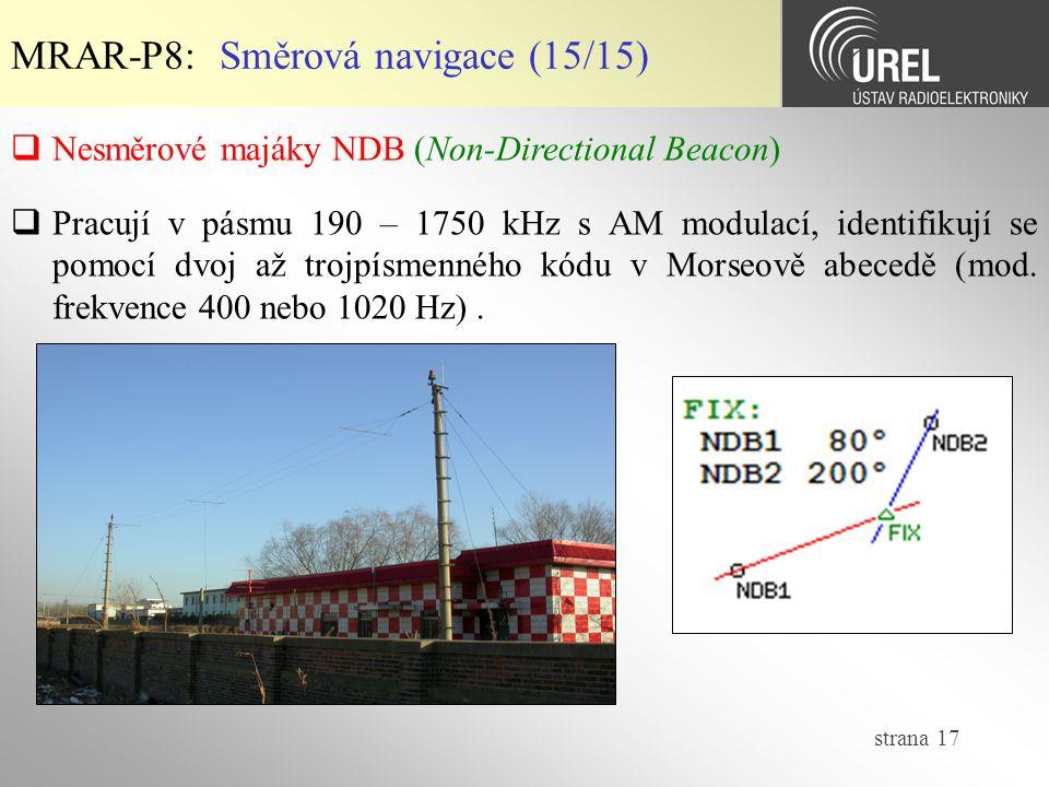MRAR-P8: Směrová navigace (15/15)