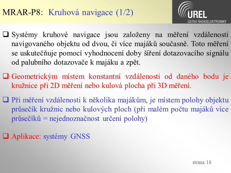 MRAR-P8: Kruhová navigace (1/2)