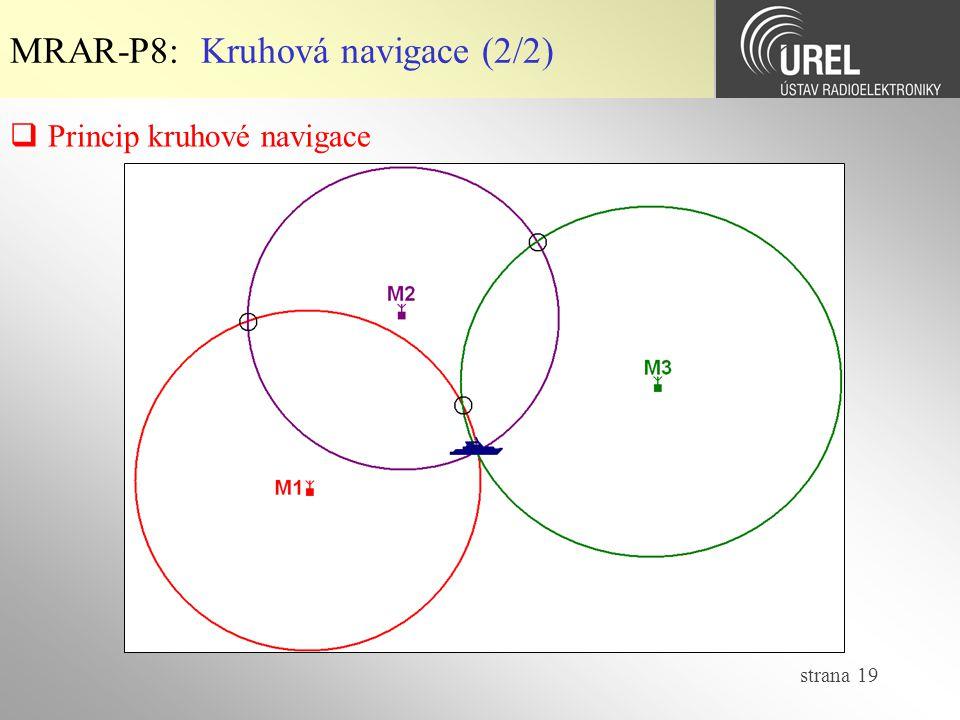 MRAR-P8: Kruhová navigace (2/2)