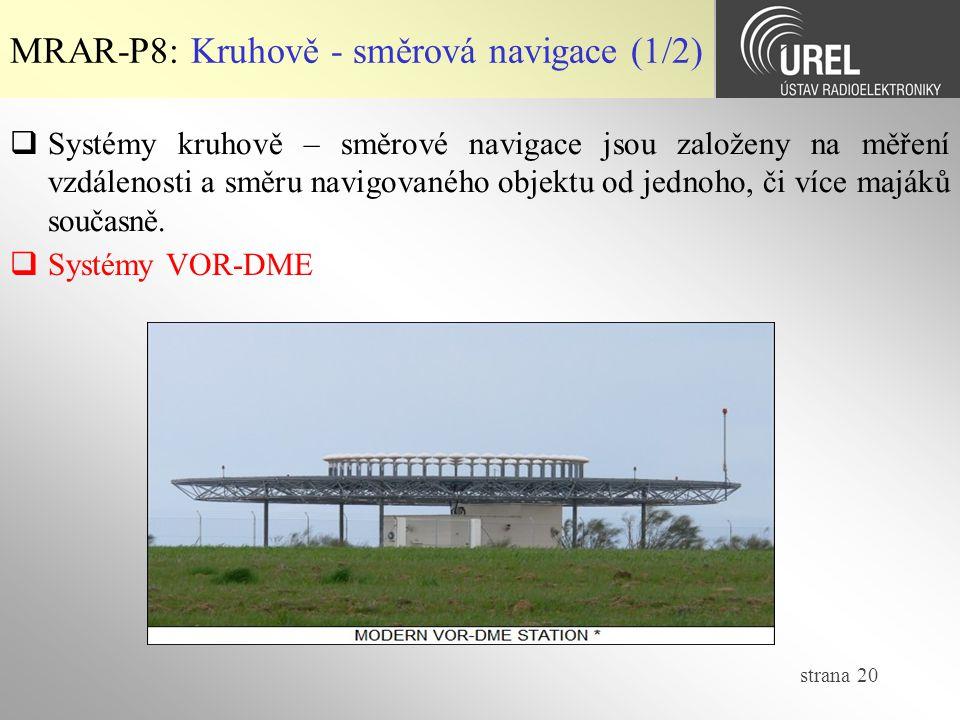 MRAR-P8: Kruhově - směrová navigace (1/2)