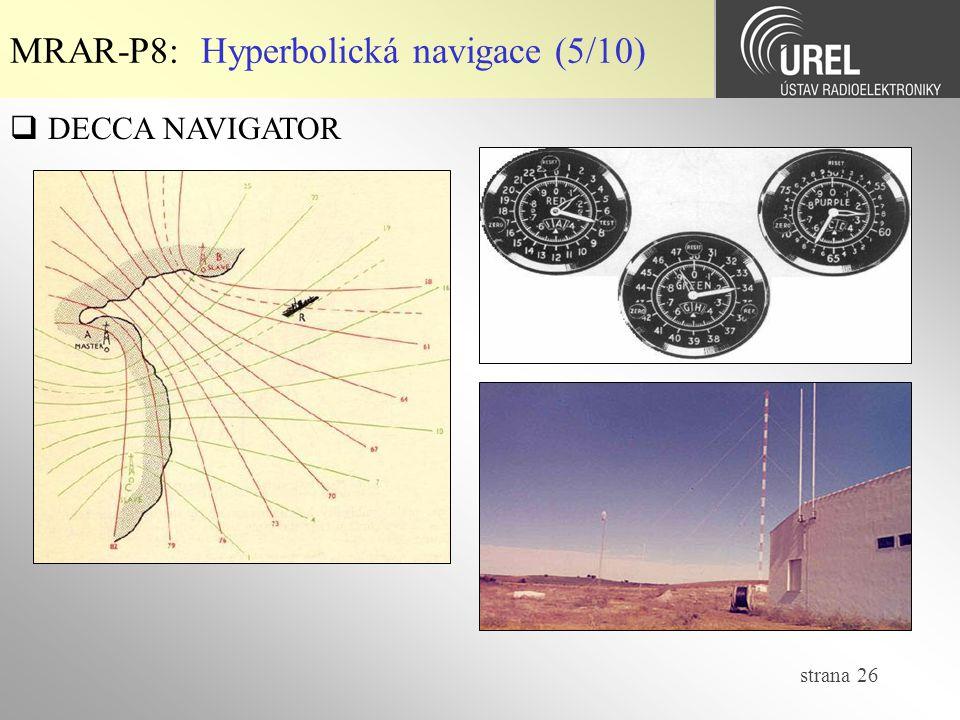 MRAR-P8: Hyperbolická navigace (5/10)