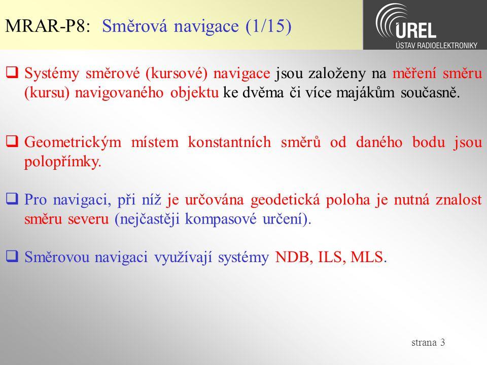 MRAR-P8: Směrová navigace (1/15)