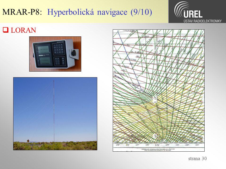 MRAR-P8: Hyperbolická navigace (9/10)
