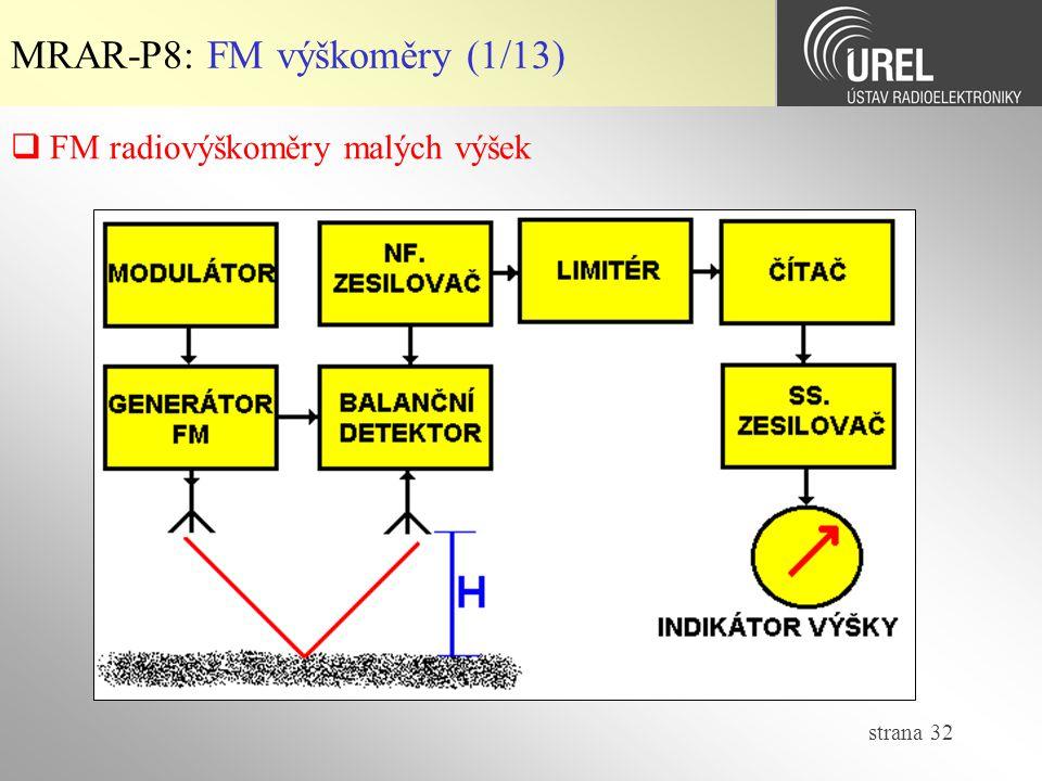 MRAR-P8: FM výškoměry (1/13)