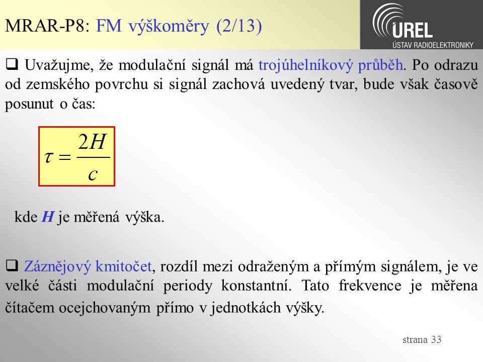 MRAR-P8: FM výškoměry (2/13)