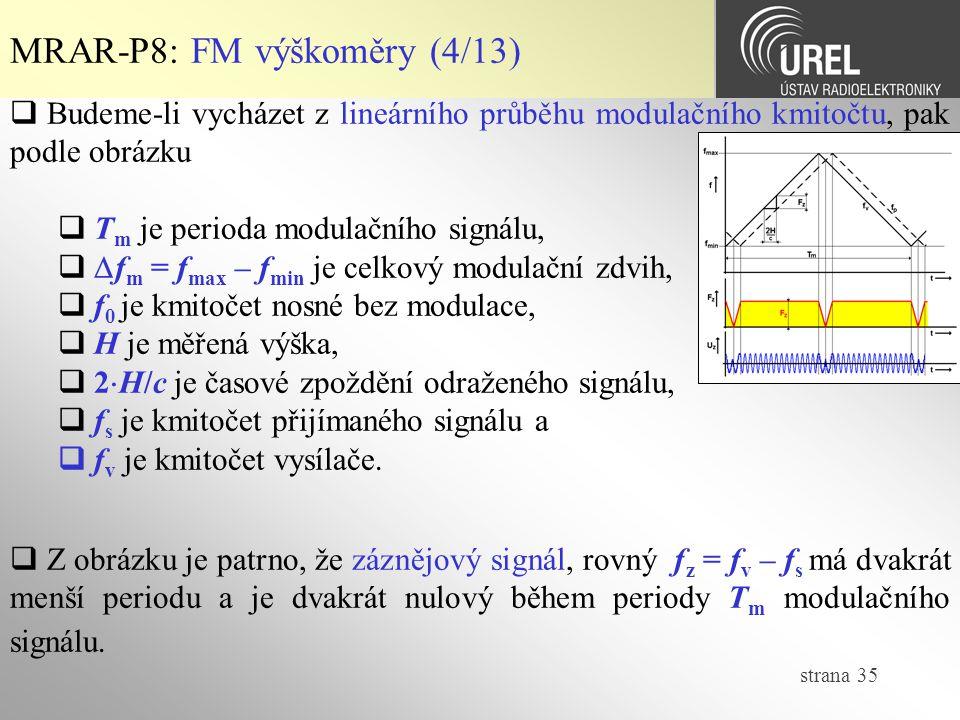 MRAR-P8: FM výškoměry (4/13)