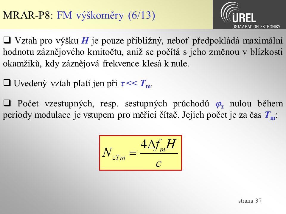 MRAR-P8: FM výškoměry (6/13)