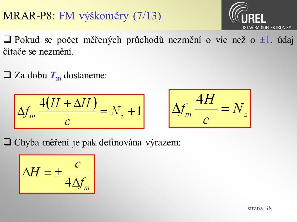 MRAR-P8: FM výškoměry (7/13)