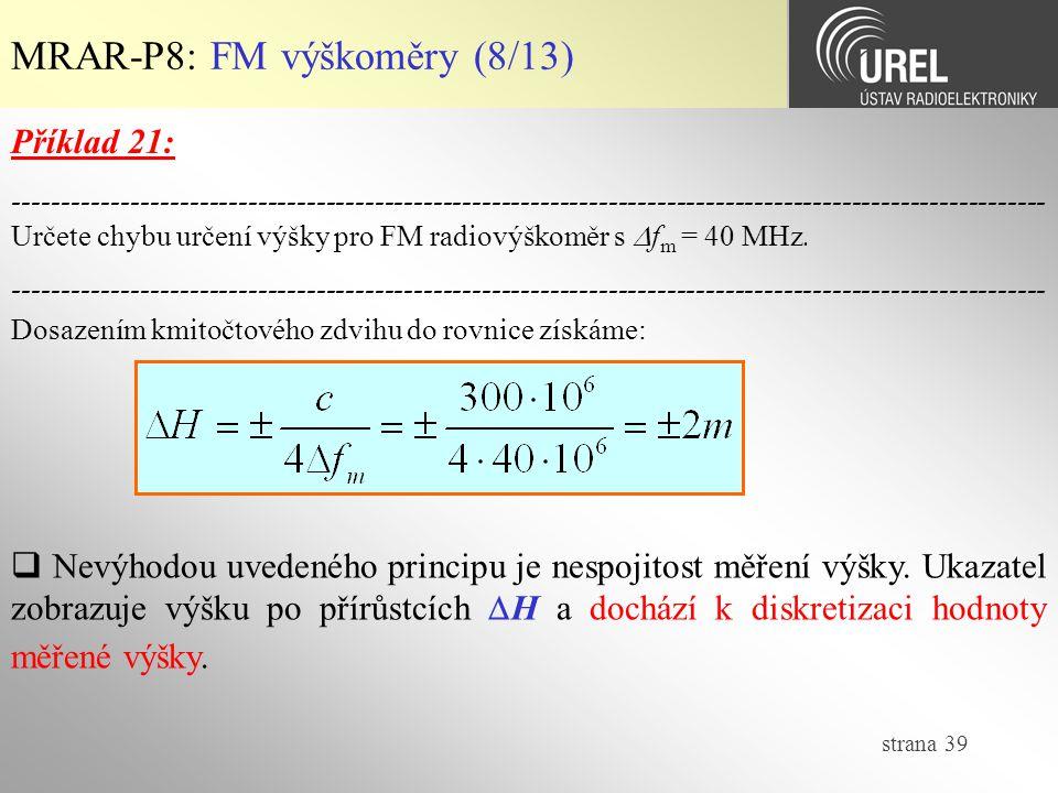 MRAR-P8: FM výškoměry (8/13)