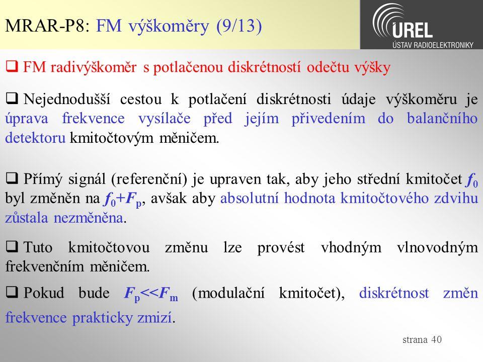 MRAR-P8: FM výškoměry (9/13)