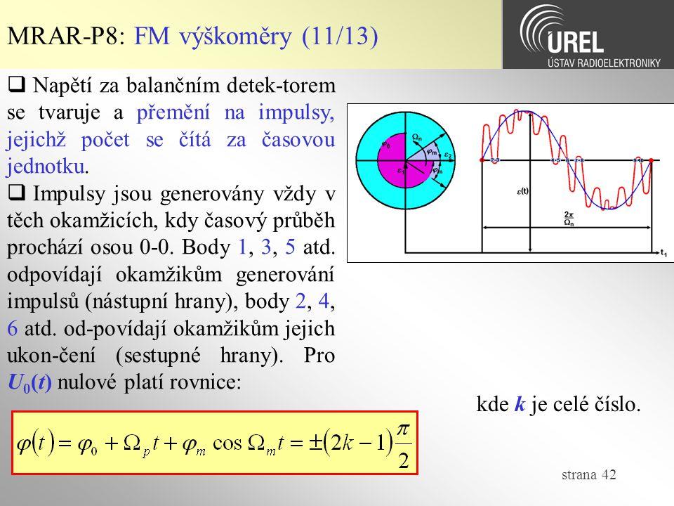 MRAR-P8: FM výškoměry (11/13)